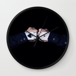 Two fists colide Wall Clock
