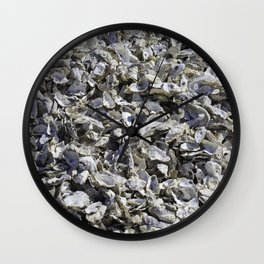 Shucked Oyster Shells Wall Clock