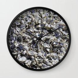 Shucked Oyster Shells Wall Clock