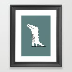 CROCODILE Framed Art Print
