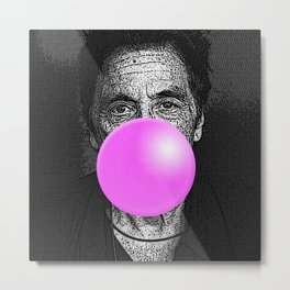 Pacino Bubblegum Metal Print