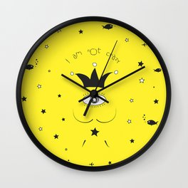 DALI IS NOT CRAZY Wall Clock