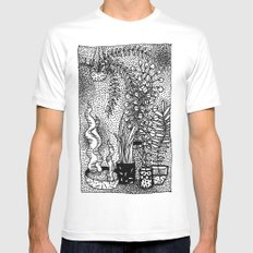 Moving Nature White Mens Fitted Tee MEDIUM