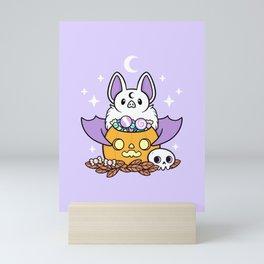 Pumpkin Bat Mini Art Print