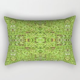 Digital Nature Collage Pattern Rectangular Pillow