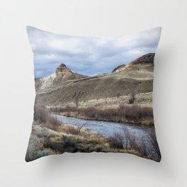 John Day River and Sheep Rock Throw Pillow