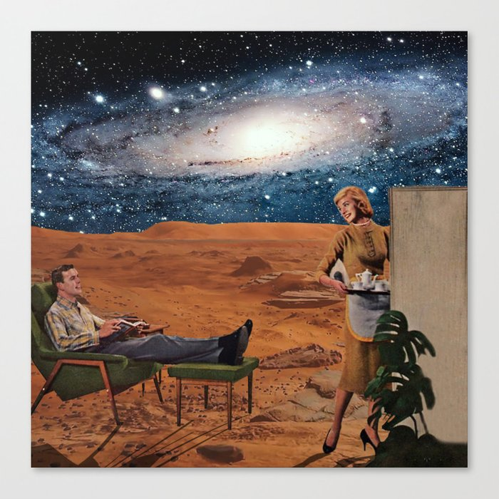 Love in Mars Canvas Print