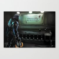 dead space Canvas Prints featuring Dead Space by rjs_allison