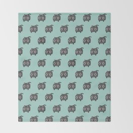 Cat Loaf - Grey Kitty Throw Blanket