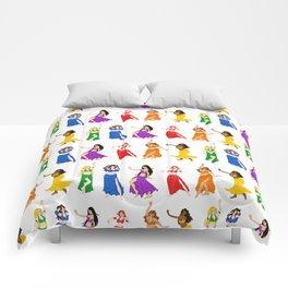 Belly Dancers - Rainbow Colors Comforters