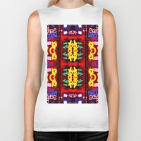 quilt Biker Tanks featuring urban quilt by stoneRage