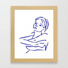 Woman Undressing Framed Art Print