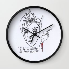 The prom queen Wall Clock