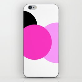 Pink Orchid Black Mod Circles iPhone Skin
