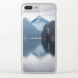 Beautiful lake, Bavarian alps Clear iPhone Case