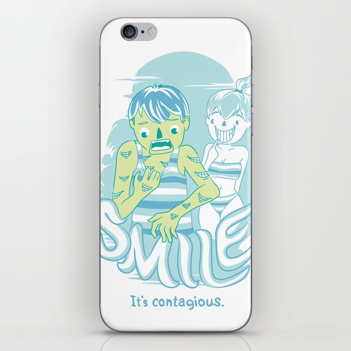 Smile It's contagious :D iPhone Skin