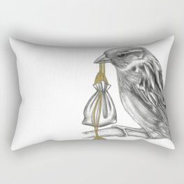 Air Looms the messenger Sparrow Rectangular Pillow