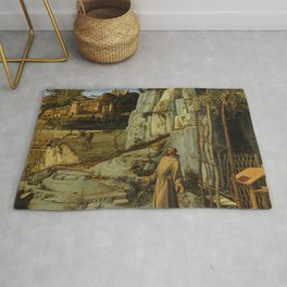 "Giovanni Bellini ""Saint Francis in the Desert"" Rug"