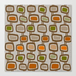 Dangling Rectangles Mid-Century Canvas Print