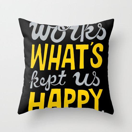 Happy Work Throw Pillow