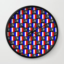 Flag and portrait : Victor Hugo Wall Clock