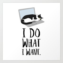 Cats Do What They Want Art Print