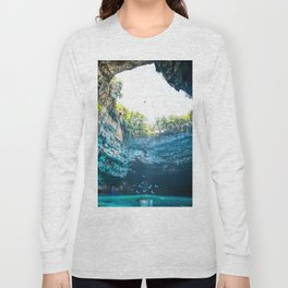 Sea Cave in Greece Long Sleeve T-shirt