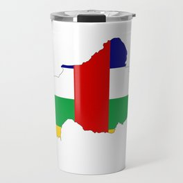 central african republic flag map Travel Mug