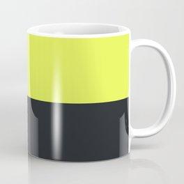 lime yellow and black grey Coffee Mug