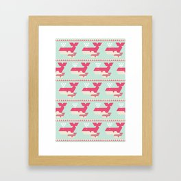 Triangwhales Framed Art Print