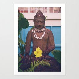 Vintage Kauai Buddha Art Print