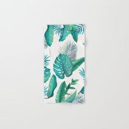 Tropical leafs pattern Hand & Bath Towel