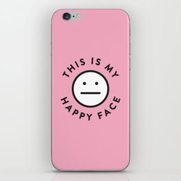 My Happy Face iPhone Skin