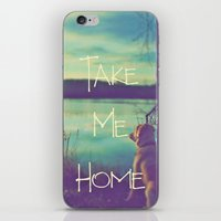 home sweet home iPhone & iPod Skins featuring HOME by Monika Strigel