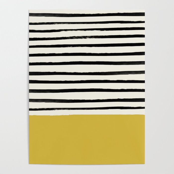Mustard Yellow & Stripes Poster