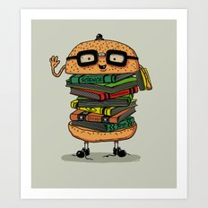 Geek Burger Art Print