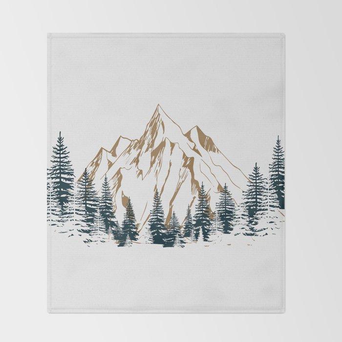 mountain # 4 Throw Blanket