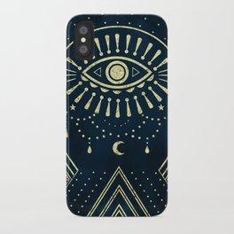 Eye Midnight Gold iPhone Case