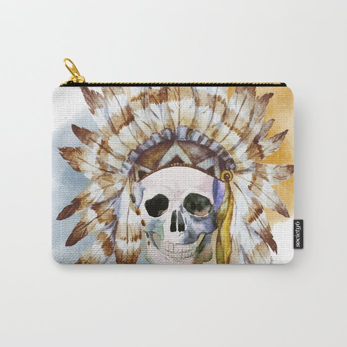 Skull 02 Carry-All Pouch