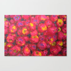 Apple on pixel Canvas Print