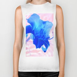 Large Yellow Tiger Lily - Inverted Biker Tank