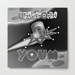 Youm N/B Metal Print