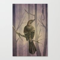 to kill a mockingbird Canvas Prints featuring Mockingbird by Marilyn Foehrenbach