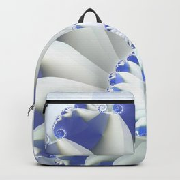 Blue Nautilus Abstract Fractal Art Backpack