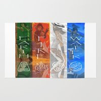 korra Area & Throw Rugs featuring Legend of Korra Elements by paulovicente