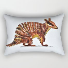 Banded Numbat Rectangular Pillow