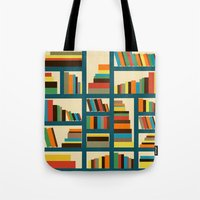 library Tote Bags featuring library by vitamin