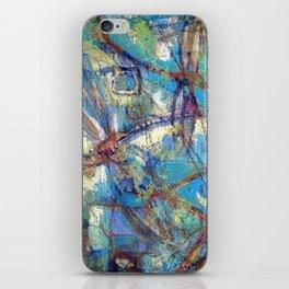 Dragonflies in blue iPhone Skin