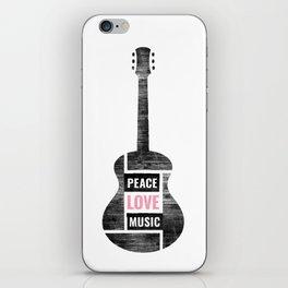 Peace, Love, Music iPhone Skin