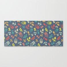 Ditsy Flowers in steel Canvas Print